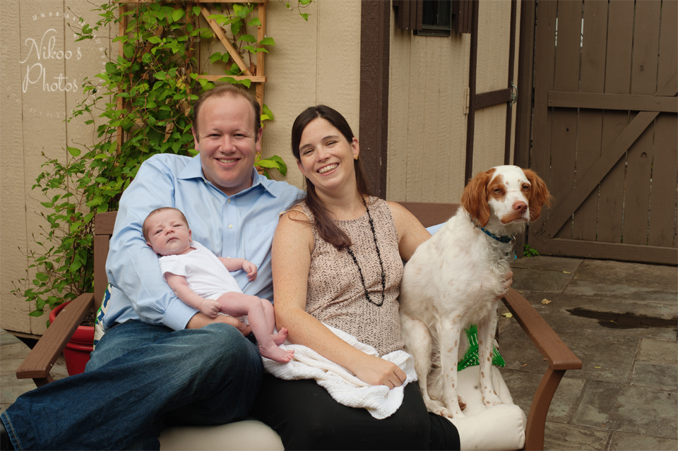 Family portrait during newborn photography session in capitol hill, washington dc