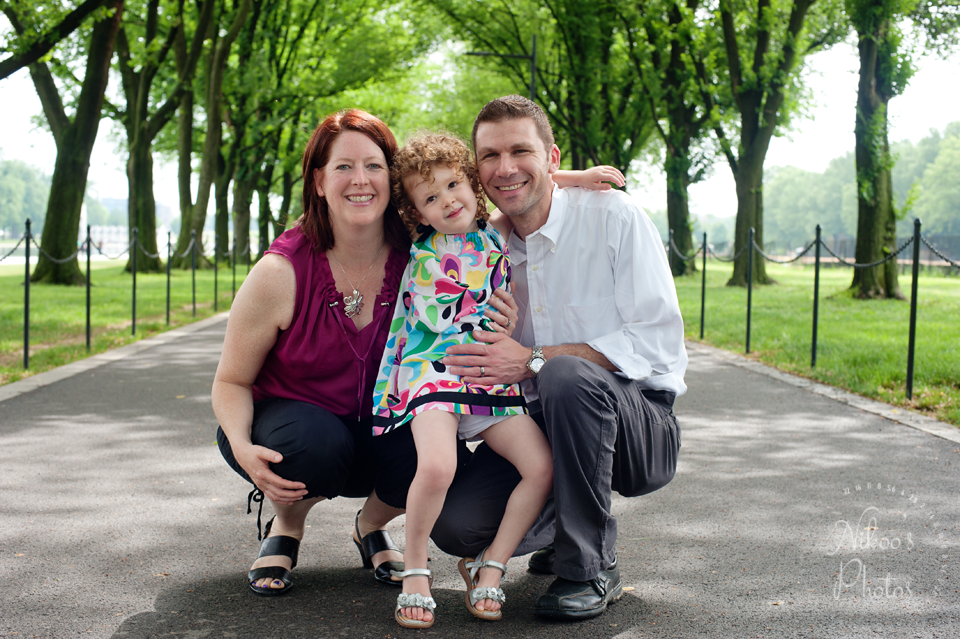 A family Photography Session on the national mall in Washington DC.